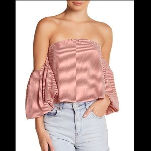 Good Luck Gem Off the Shoulder Blouse Top